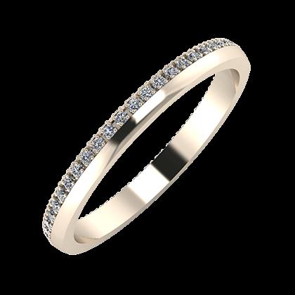 Alojzia 2mm 22-karat rose gold wedding ring