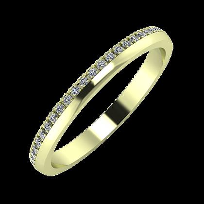 Alojzia 2mm 14-karat green gold wedding ring