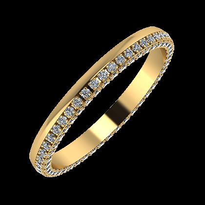 Aloma 2mm 18-karat yellow gold wedding ring