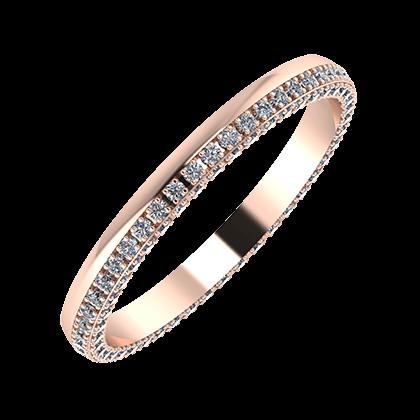 Aloma 2mm 18-karat rose gold wedding ring