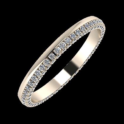Aloma 2mm 22-karat rose gold wedding ring