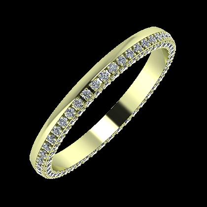 Aloma 2mm 14-karat green gold wedding ring