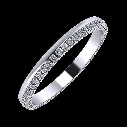 Aloma 2mm platinum wedding ring