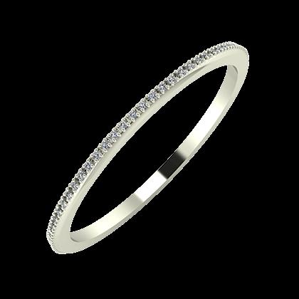 Alóma 1mm 18-karat white gold wedding ring