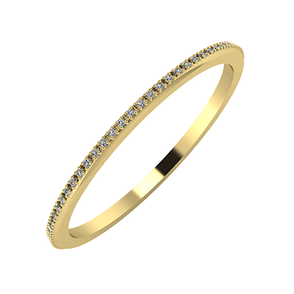 Alóma 1mm 14-karat yellow gold wedding ring