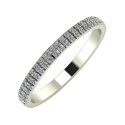 Alóma 2mm 18-karat white gold wedding ring