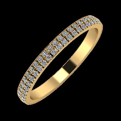 Alóma 2mm 18-karat yellow gold wedding ring