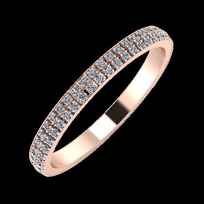 Alóma 2mm 18-karat rose gold wedding ring
