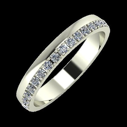 Ama 3mm 18-karat white gold wedding ring