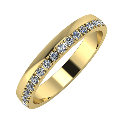 Ama 3mm 14-karat yellow gold wedding ring