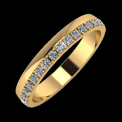 Ama 3mm 22-karat yellow gold wedding ring