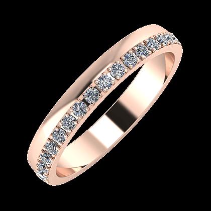 Ama 3mm 18-karat rose gold wedding ring