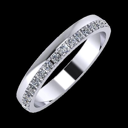 Ama 3mm platinum wedding ring