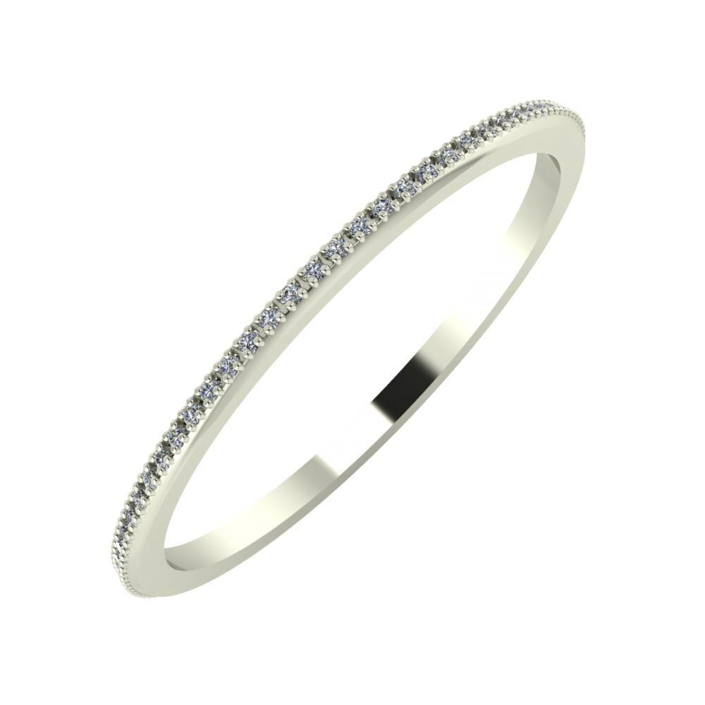 Alóma 1mm 14-karat white gold wedding ring