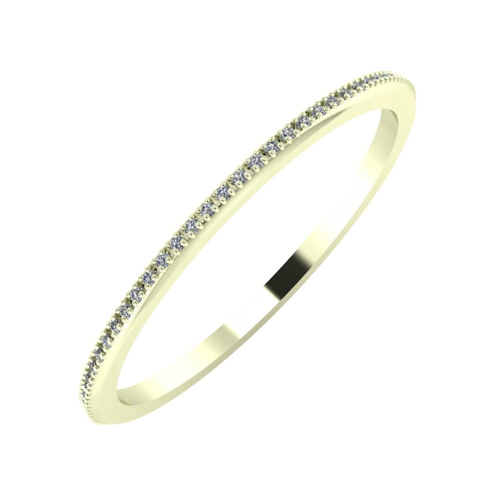 Alóma 1mm 22-karat white gold wedding ring