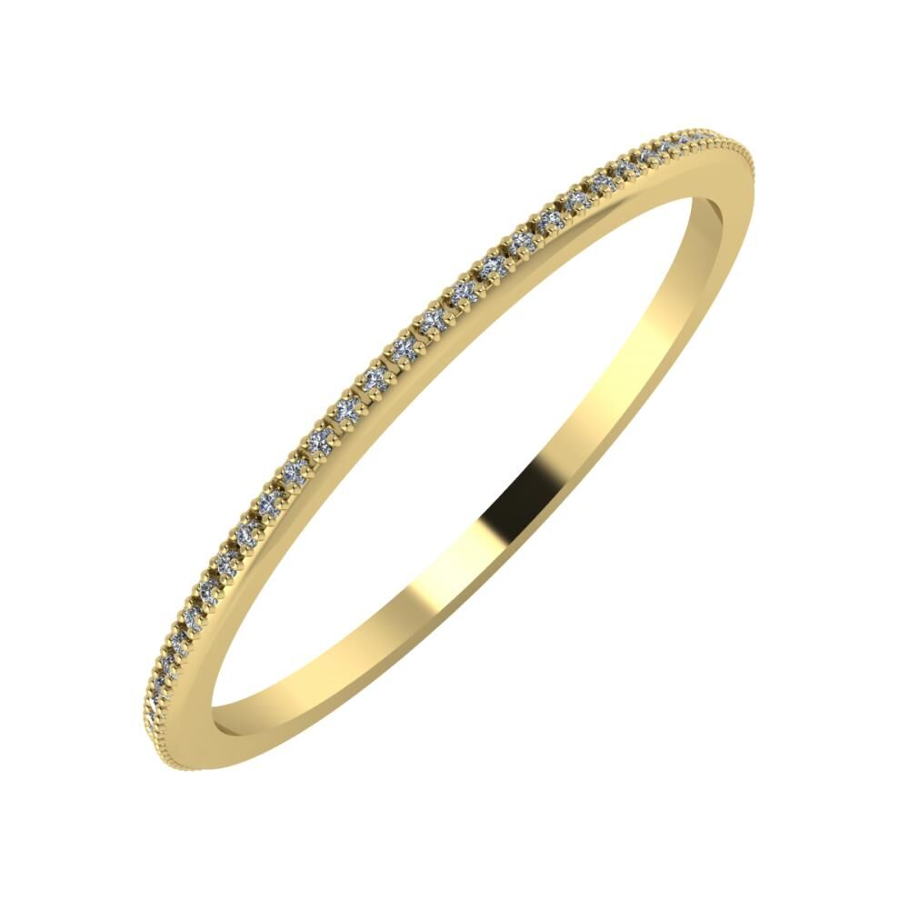 Alóma 1mm 14-karat yellow gold wedding ring