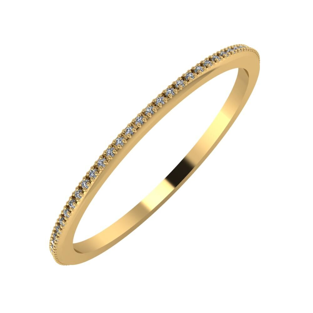 Alóma 1mm 18-karat yellow gold wedding ring
