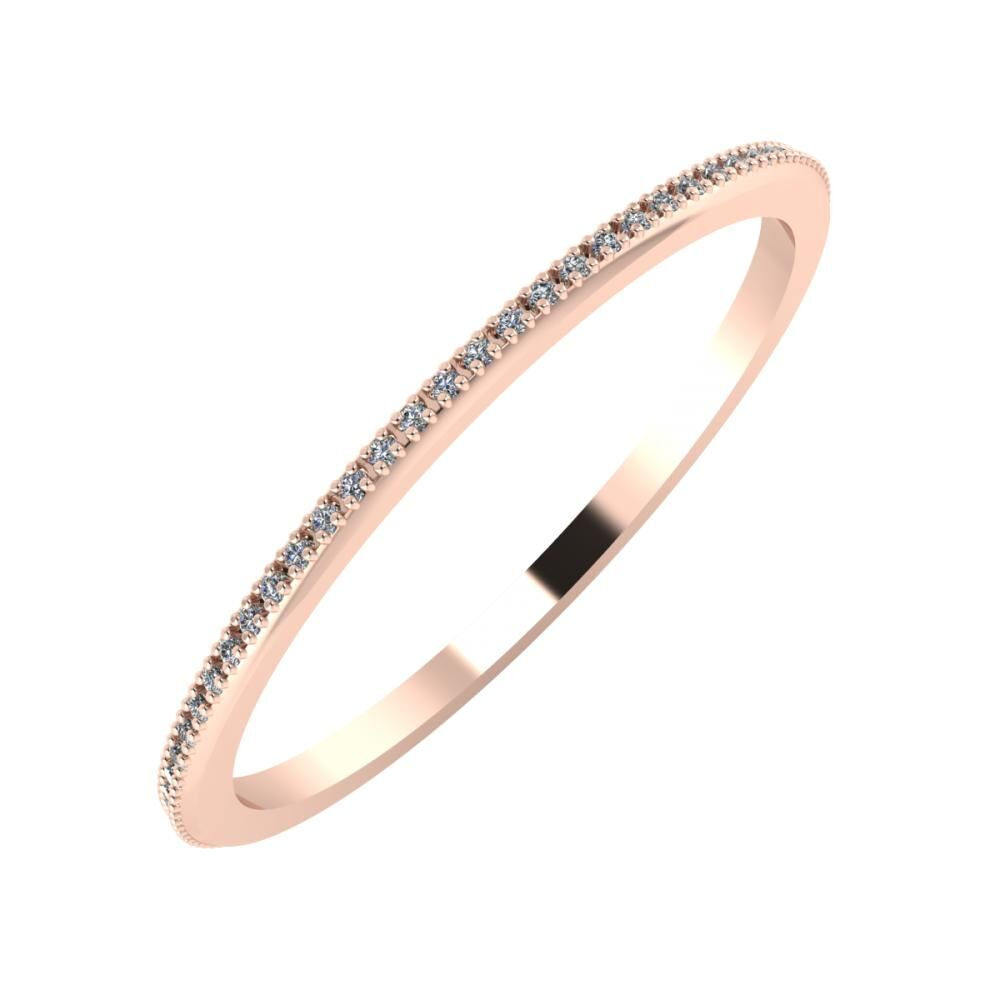 Alóma 1mm 14-karat rose gold wedding ring