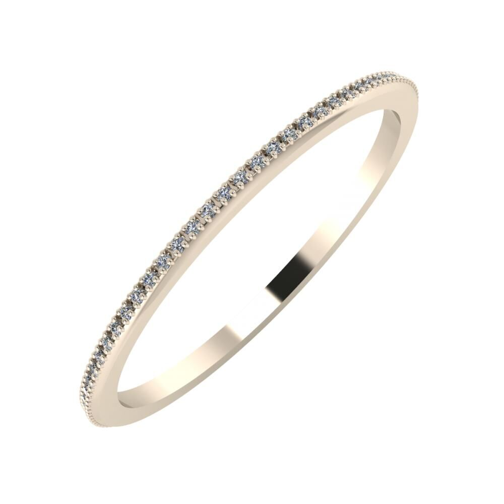 Alóma 1mm 22-karat rose gold wedding ring