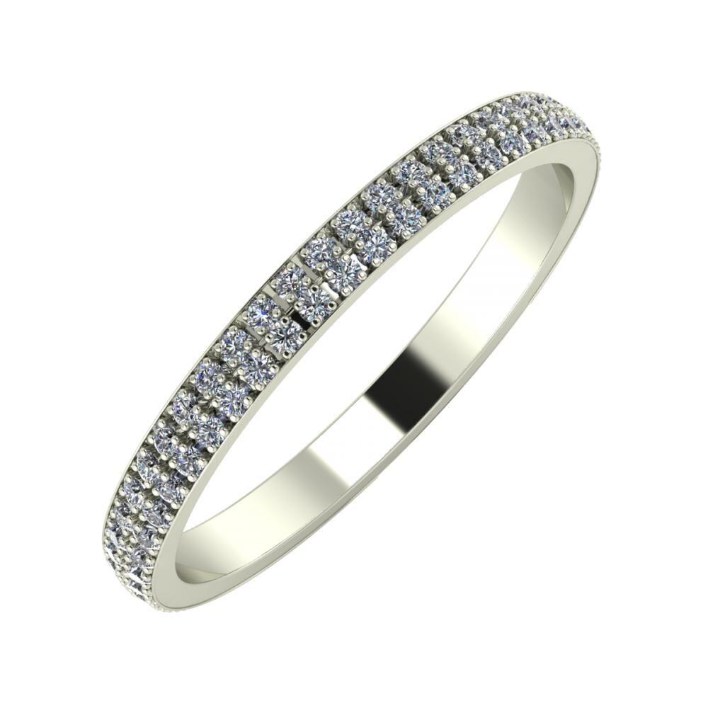 Alóma 2mm 14-karat white gold wedding ring