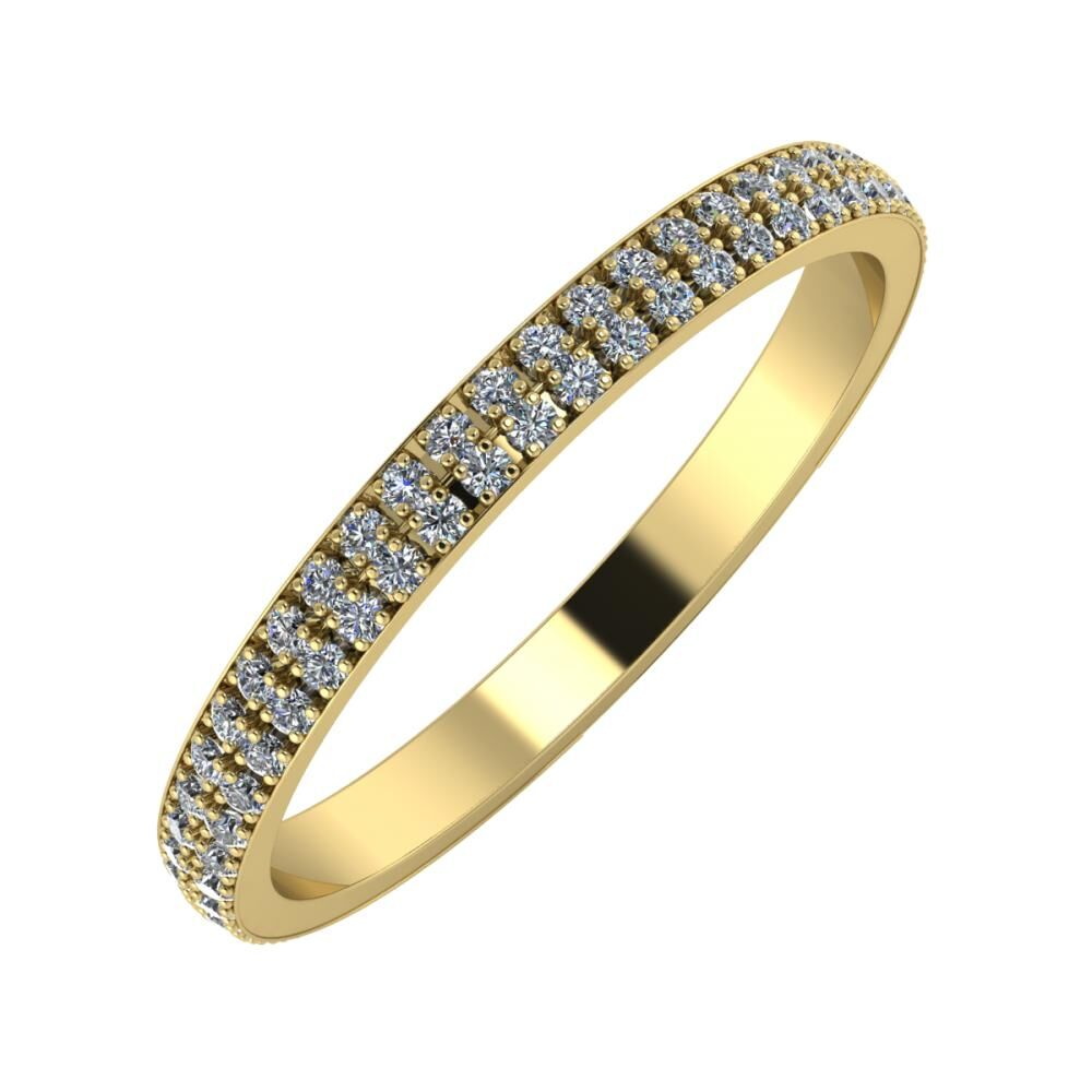 Alóma 2mm 14-karat yellow gold wedding ring