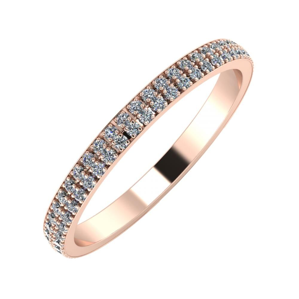Alóma 2mm 18-karat rose gold wedding ring