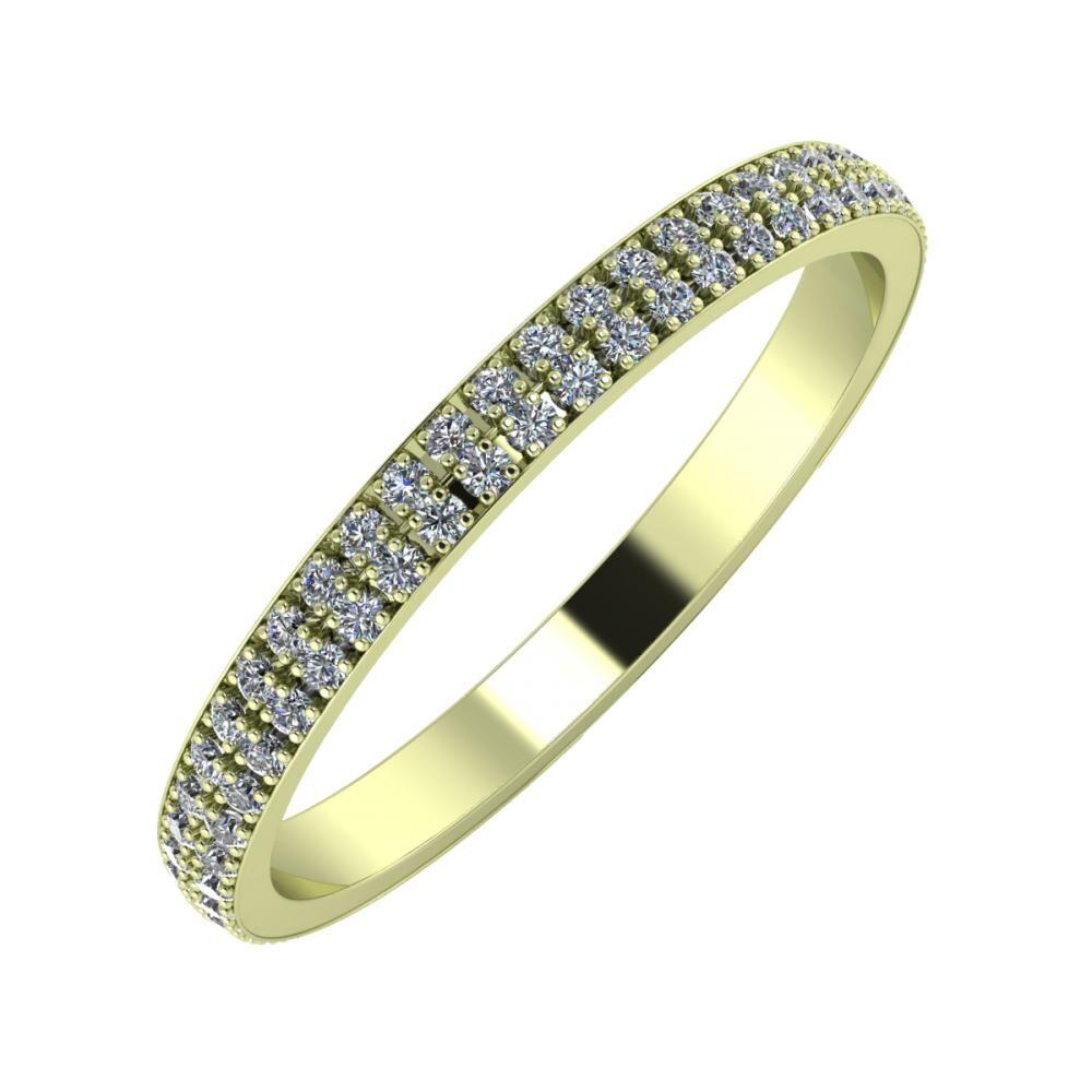 Alóma 2mm 14-karat green gold wedding ring