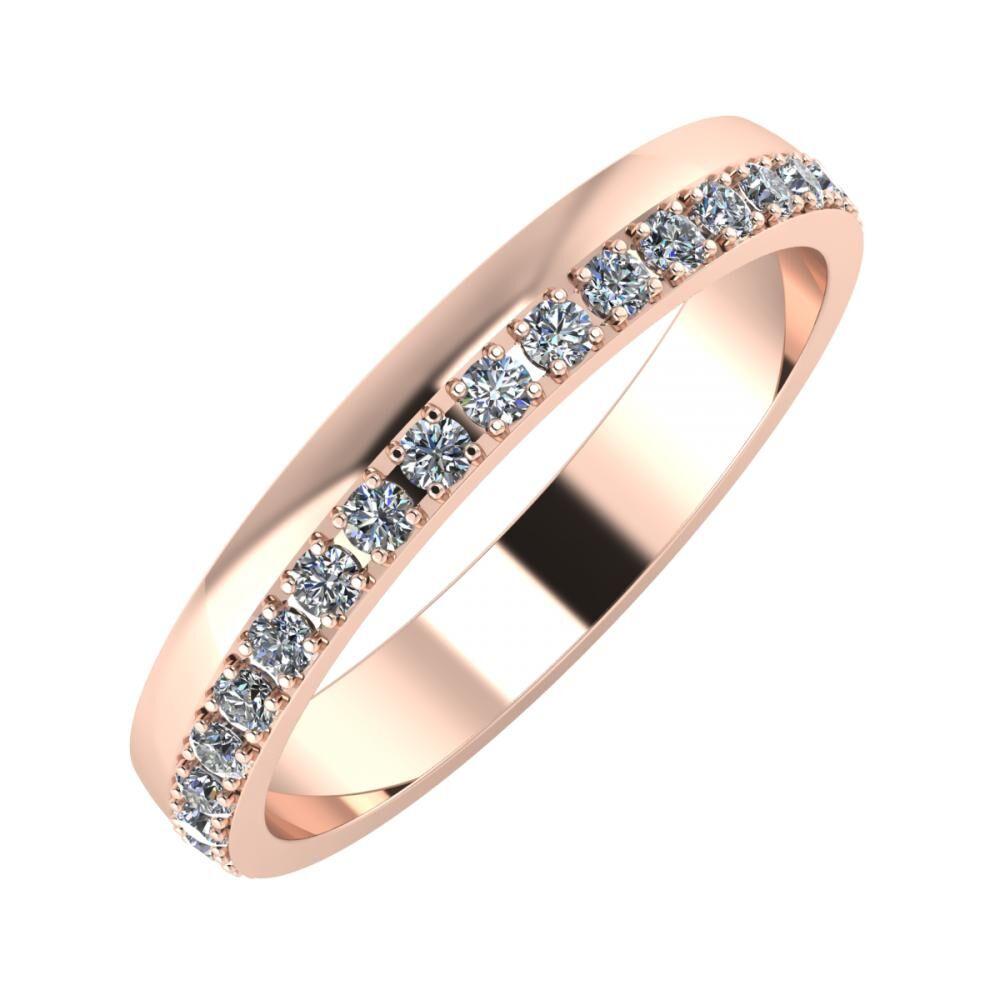 Ama 3mm 14-karat rose gold wedding ring