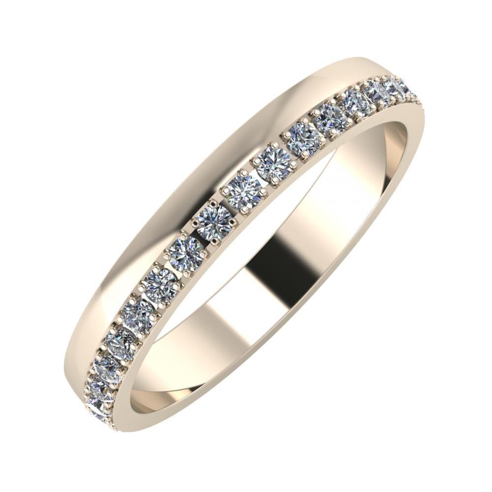 Ama 3mm 22-karat rose gold wedding ring