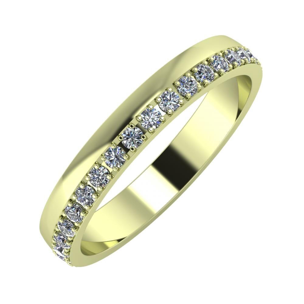 Ama 3mm 14-karat green gold wedding ring