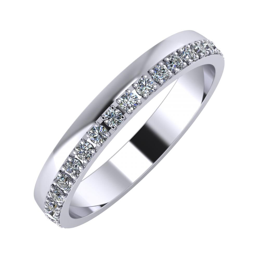 Ama 3mm platinum wedding ring