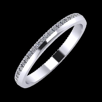 Alojzia 2mm platinum wedding ring