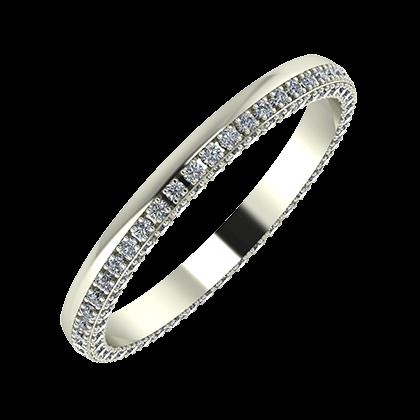 Aloma 2mm 18-karat white gold wedding ring
