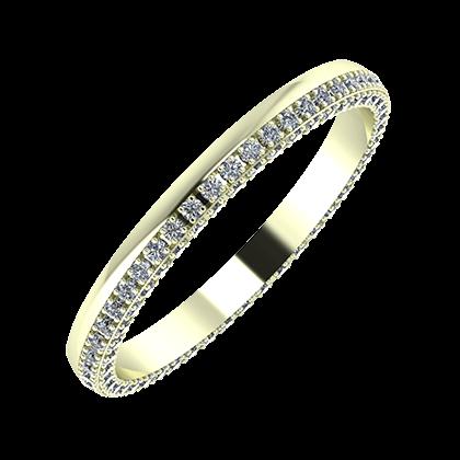 Aloma 2mm 22-karat white gold wedding ring