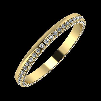 Aloma 2mm 14-karat yellow gold wedding ring