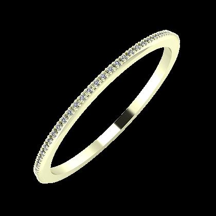 Alóma 1mm 22-karat white gold wedding ring