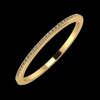 Alóma 1mm 18-karat yellow gold wedding ring