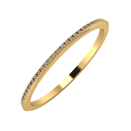 Alóma 1mm 22-karat yellow gold wedding ring