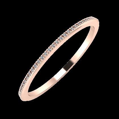 Alóma 1mm 18-karat rose gold wedding ring