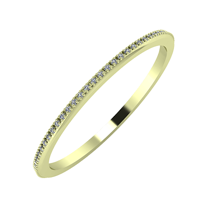 Alóma 1mm 14-karat green gold wedding ring