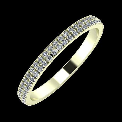 Alóma 2mm 22-karat white gold wedding ring