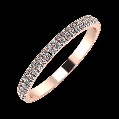 Alóma 2mm 14-karat rose gold wedding ring