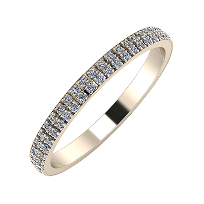 Alóma 2mm 22-karat rose gold wedding ring