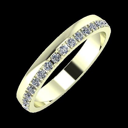 Ama 3mm 22-karat white gold wedding ring