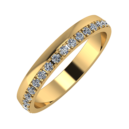 Ama 3mm 18-karat yellow gold wedding ring