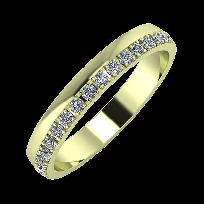 Ama 3mm 14-karat green gold wedding ring